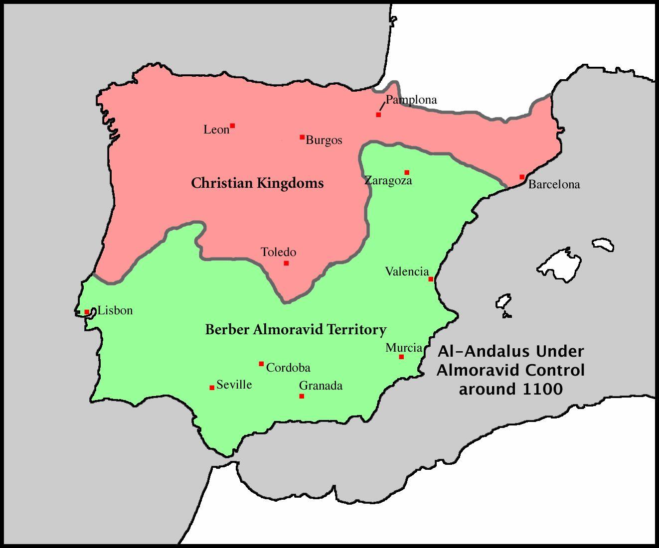 Map Of Spain Under Muslim Rule.Muslim Spain Map Autobedrijfmaatje