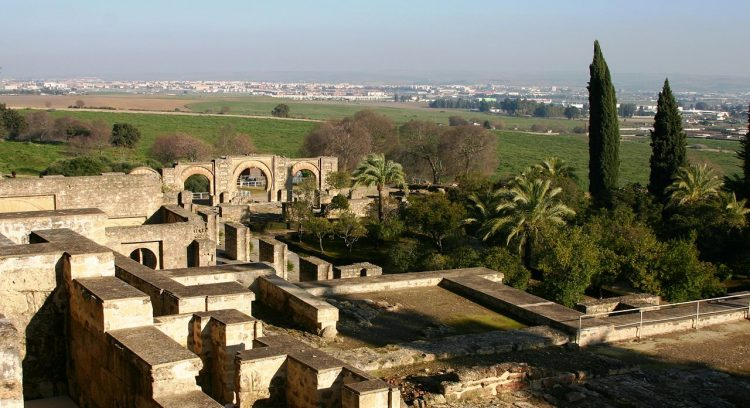 A landscape of the ruins of al-Zahra.