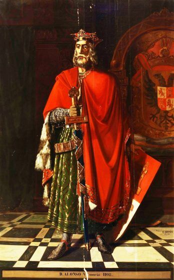 A painting of Alfonso VI.