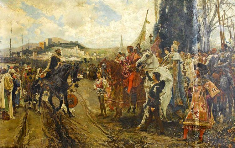 Boabdil surrendering to the Catholic Monarchs