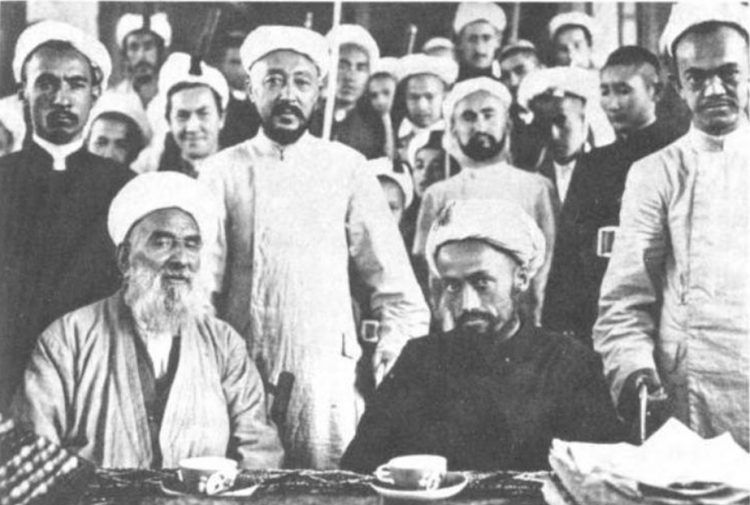A picture of Uighur Ulema in China (circa 1933). Ulema in China (circa 1933).